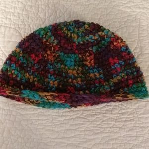 Hand made multi color skull cap